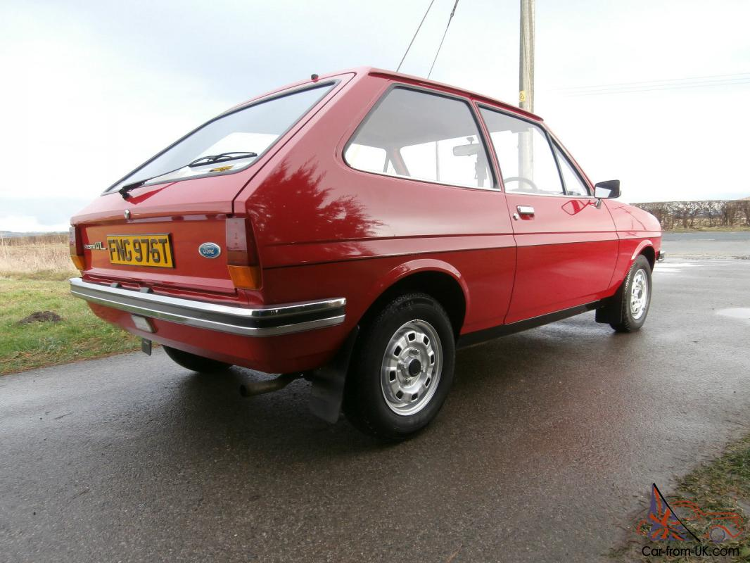 ford fiesta mk1 1 1l amazing condition 15 000 miles from new. Black Bedroom Furniture Sets. Home Design Ideas