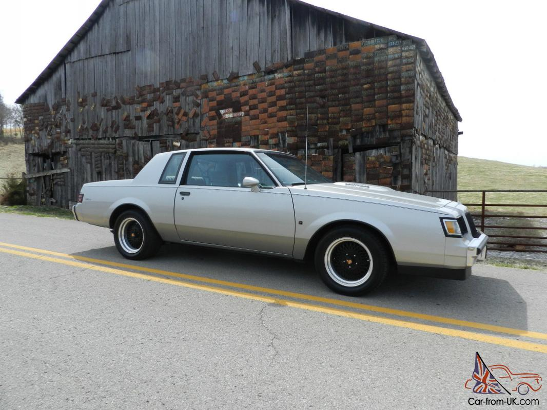 14 Buick Regal Turbo >> 1987 Buick T Type NO RESERVE Regal Turbo / Grand National / GNX Rare Show 3.8