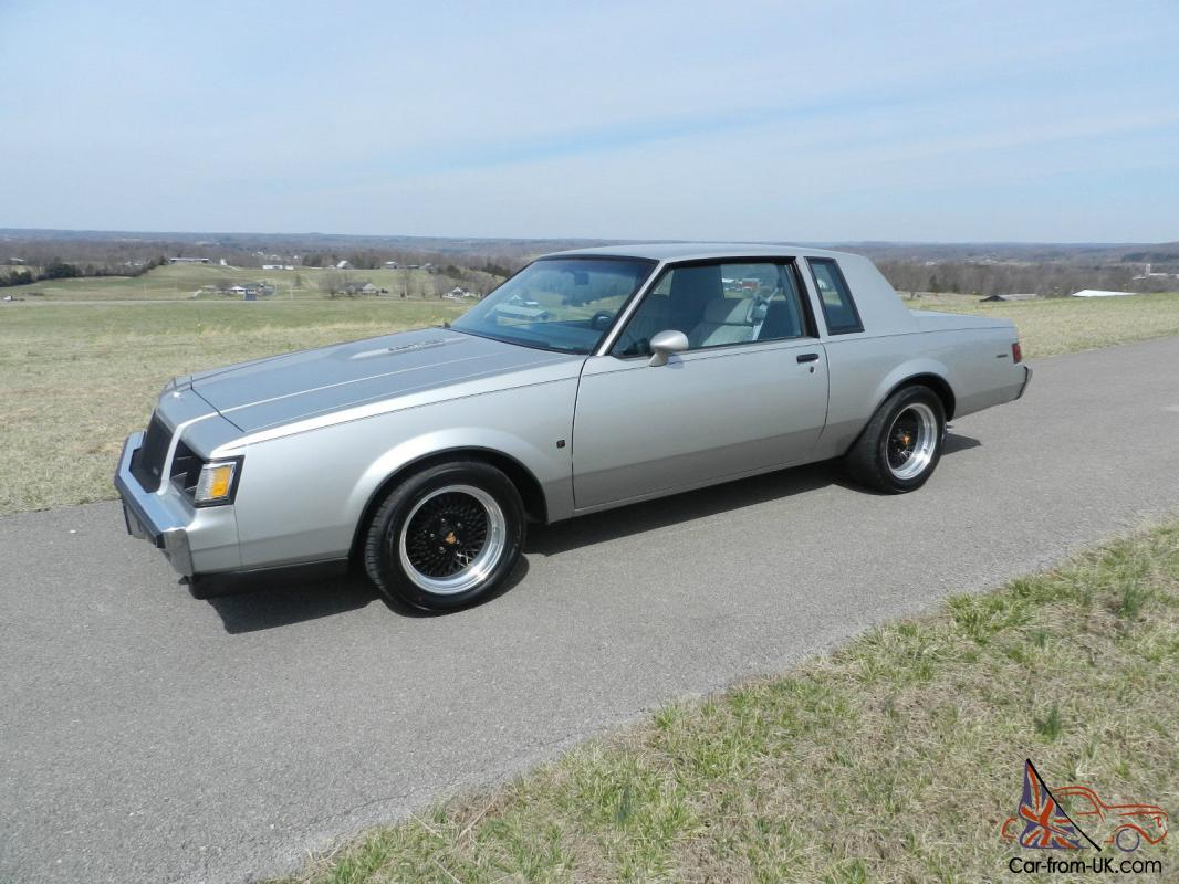 1987 buick t type no reserve regal turbo grand national gnx rare show 3 8. Black Bedroom Furniture Sets. Home Design Ideas