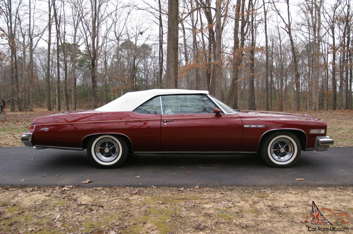 1975 buick lesabre custom convertible with 455 ci engine. Black Bedroom Furniture Sets. Home Design Ideas
