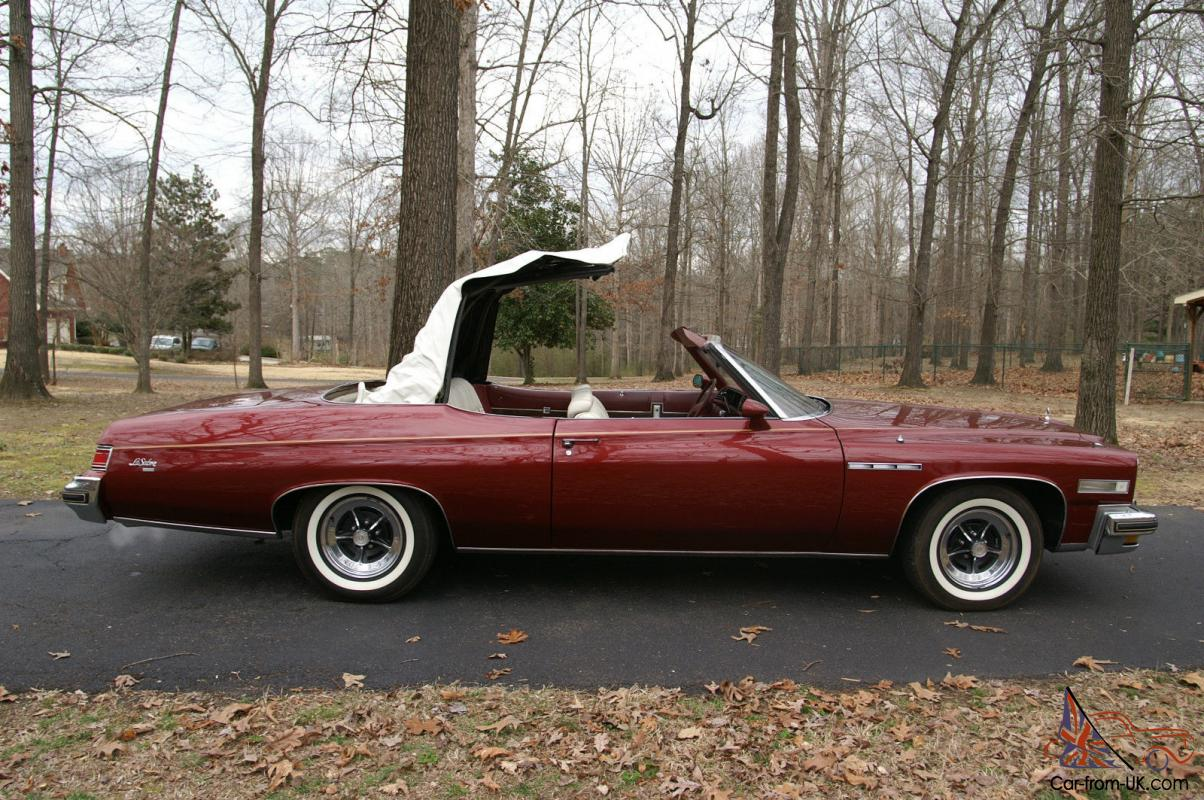 1975 buick lesabre custom convertible with 455 ci engine