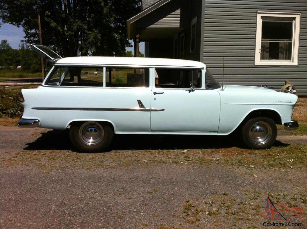 1955 chevy 2 door handyman wagon