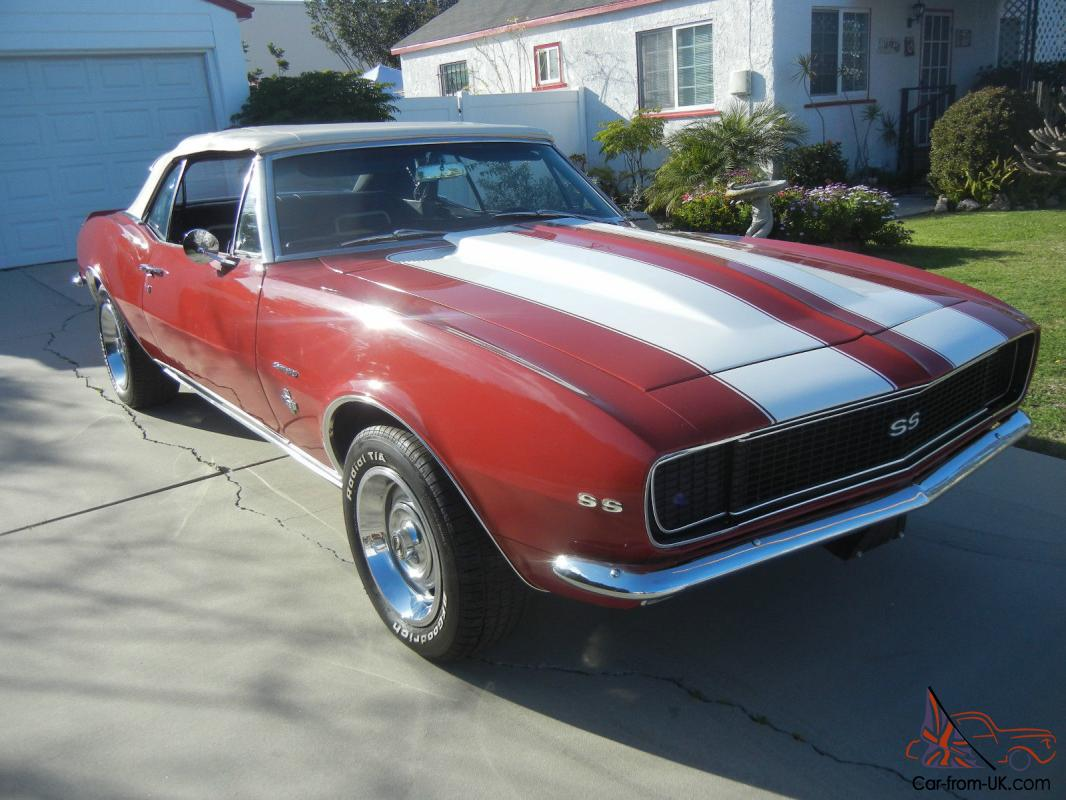 1967 chevy camaro convertible rs ss bolero red deluxe cali car video 1968 1969. Black Bedroom Furniture Sets. Home Design Ideas