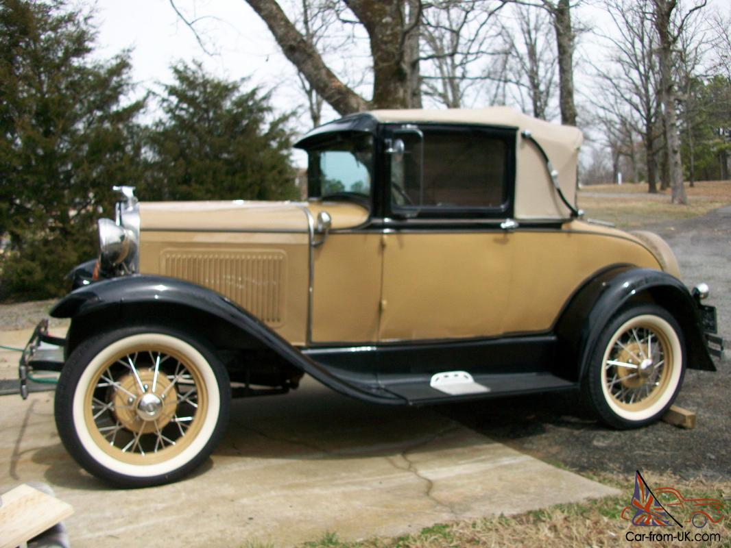 1930 Model A Sports Coupe With Rumble Seat