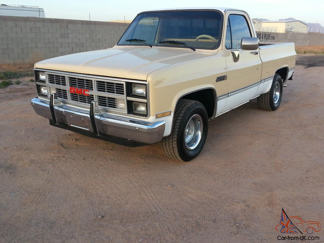 1984 Gmc Sierra Classic 2wd Drive Short Bed Shortbed C10 Chevy Gm 1961 Truck Chevrolet