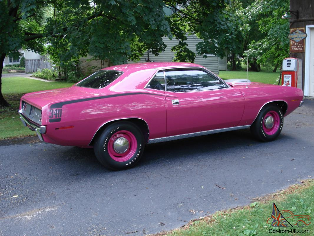 very rare 1970 factory panther pink cuda. Black Bedroom Furniture Sets. Home Design Ideas