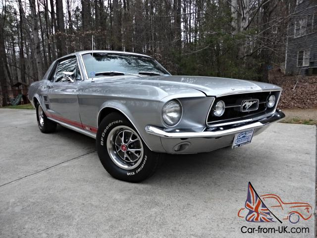 1967 Ford Mustang Gta Coupe S Code 390 Silver Frost Not
