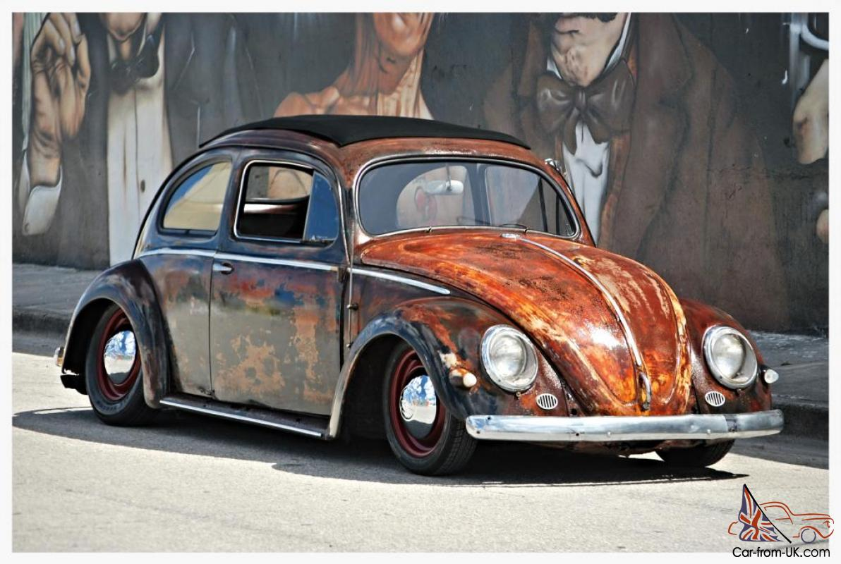 OVAL WINDOW FACTORY RAGTOP 1955 VW BEETLE CUSTOM RAT ROD VOLKSWAGEN ...