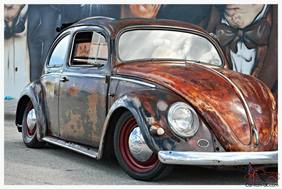 OVAL WINDOW FACTORY RAGTOP 1955 VW BEETLE CUSTOM RAT ROD VOLKSWAGEN