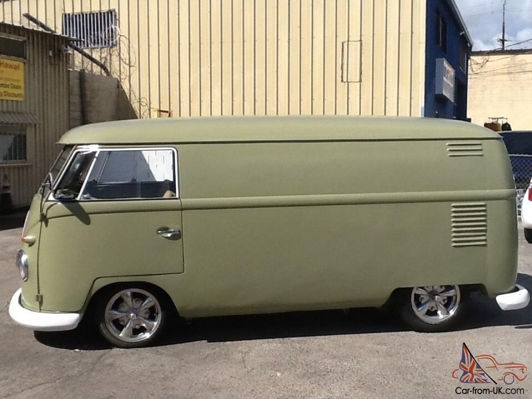 1961 vw panel bus rebuilt motor new paint new interior upholstery brakes. Black Bedroom Furniture Sets. Home Design Ideas