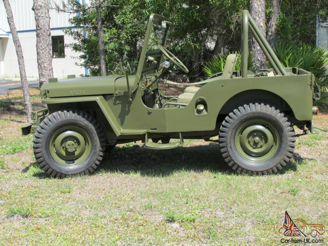 cj3a willys jeep 1951 military clone new paint
