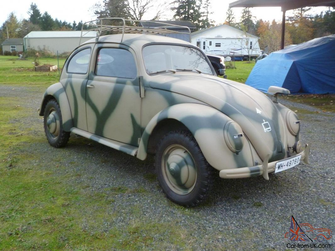 Ww2 1943 Kdf Type 82e Replica 1962 Vw Beetle Sedan