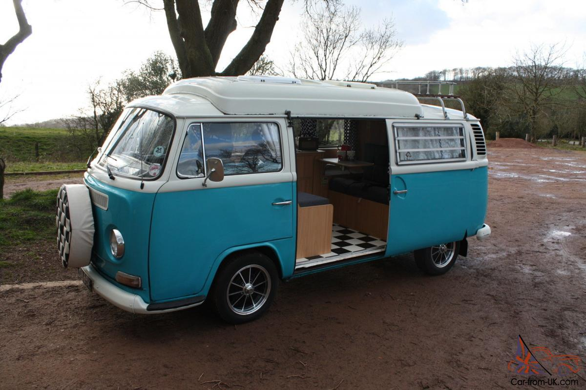 vw t2 bay 1971 camper with dormobile conversion tax exempt. Black Bedroom Furniture Sets. Home Design Ideas