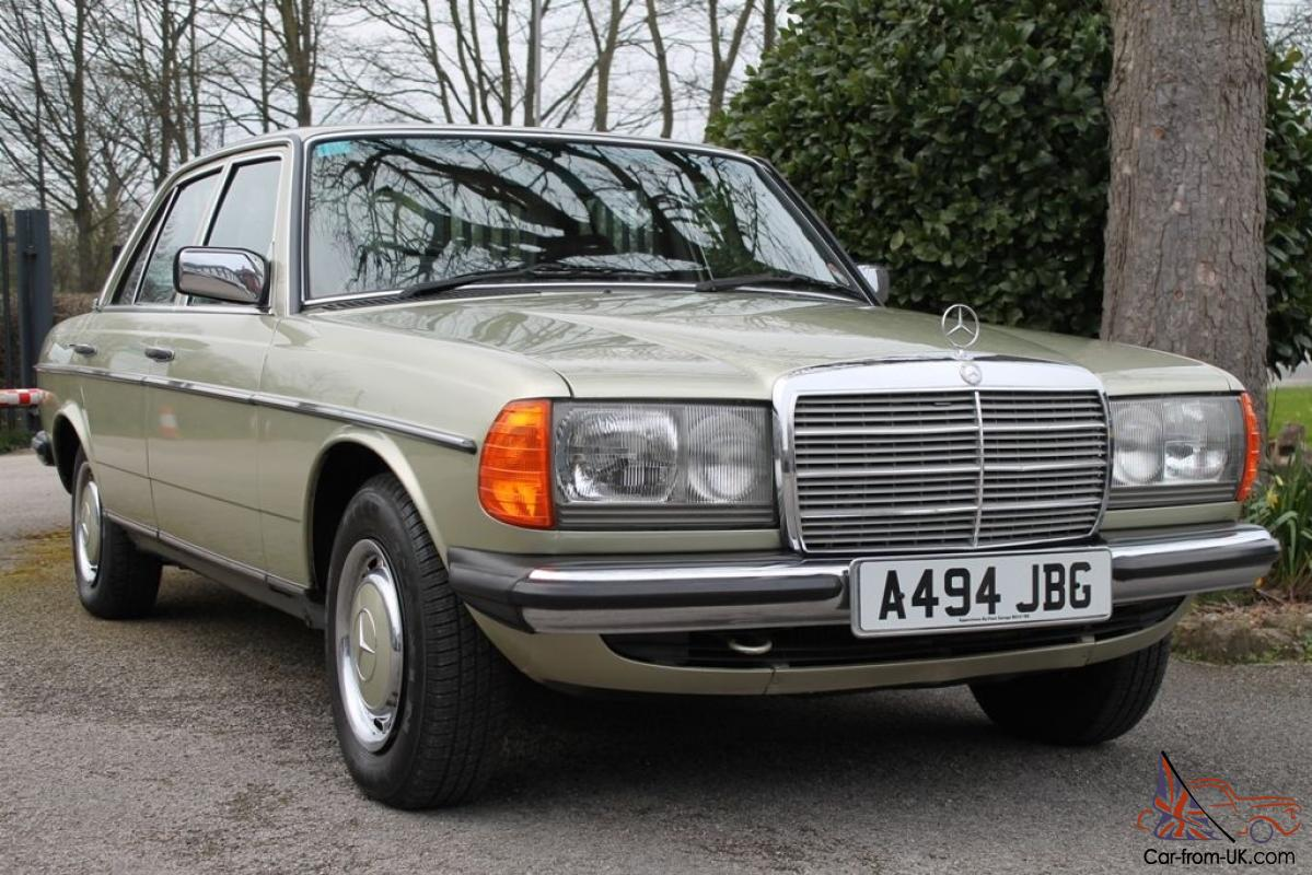 1984 a mercedes w123 230e saloon thistle green auto for Mercedes benz 230e
