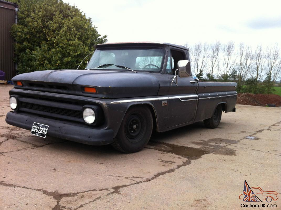 1966 chevy c10 pick up pickup 350 v8 4 speed manual lowered pas