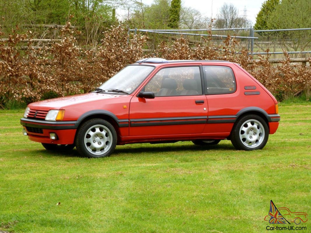 peugeot 205 1 9 gti in cherry red the best hot hatch pocket rocket now classic. Black Bedroom Furniture Sets. Home Design Ideas