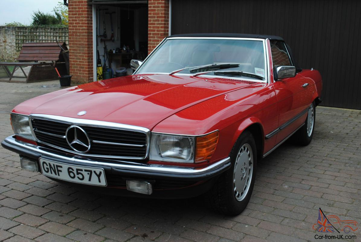 Mercedes benz sl380 1983 excellent condition signal red for Mercedes benz 1983
