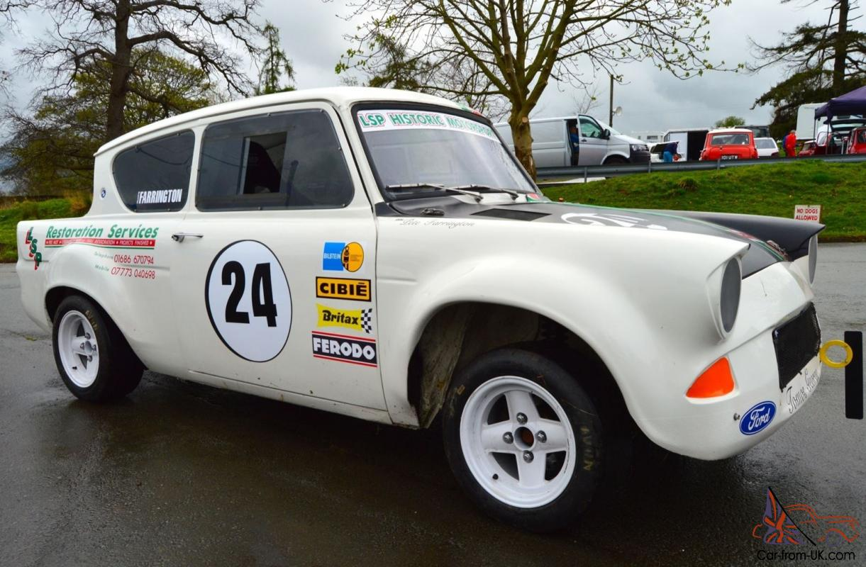 Historic Retro Ford Anglia 105E Race Rally Sprint Hill climb car ...