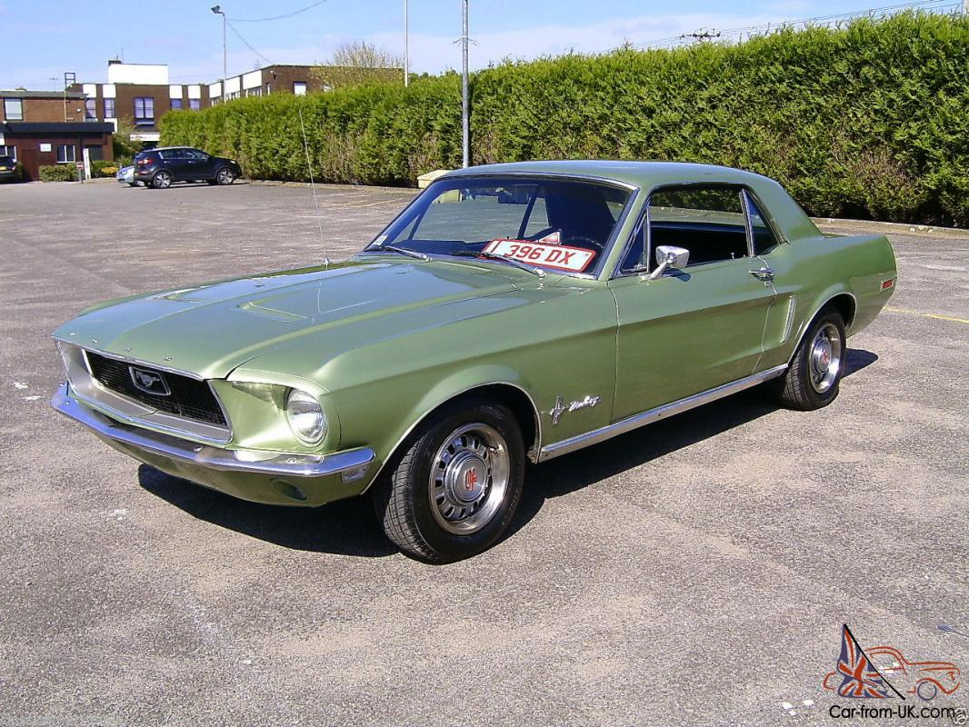 well optioned 1968 ford mustang v8 coupe. Black Bedroom Furniture Sets. Home Design Ideas