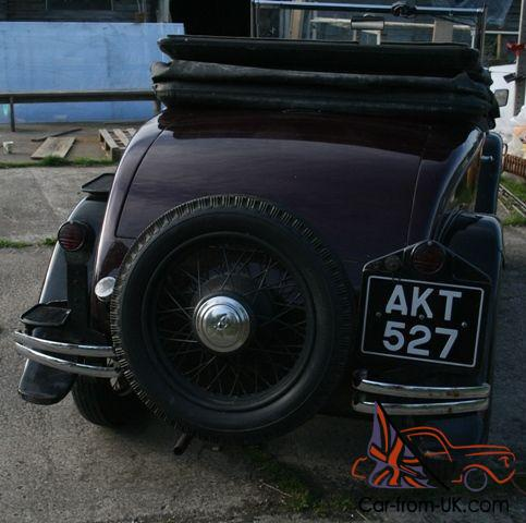 1934 austin 10 convertible 2 seater with dickey. Black Bedroom Furniture Sets. Home Design Ideas