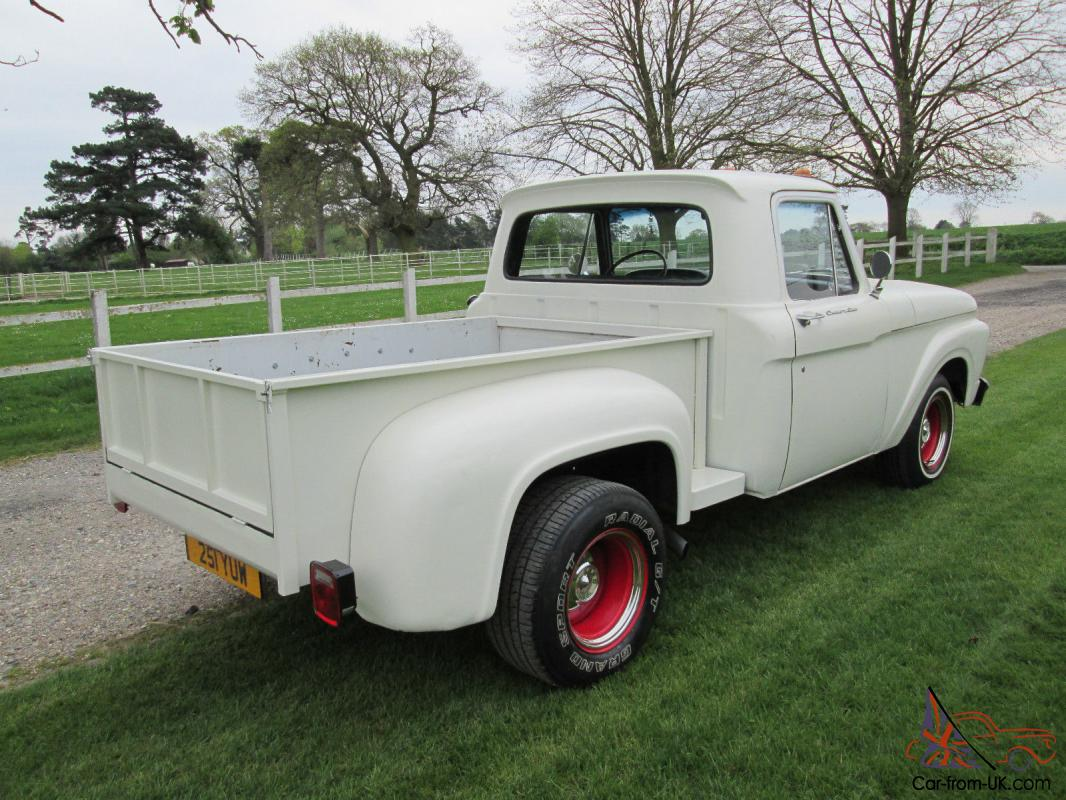 1962 ford f100 custom cab stepside pickup truck