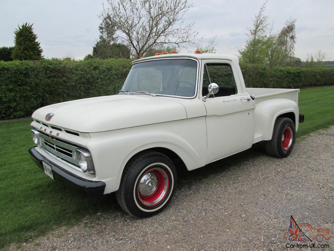 1962 ford f100 custom cab stepside pickup truck. Black Bedroom Furniture Sets. Home Design Ideas
