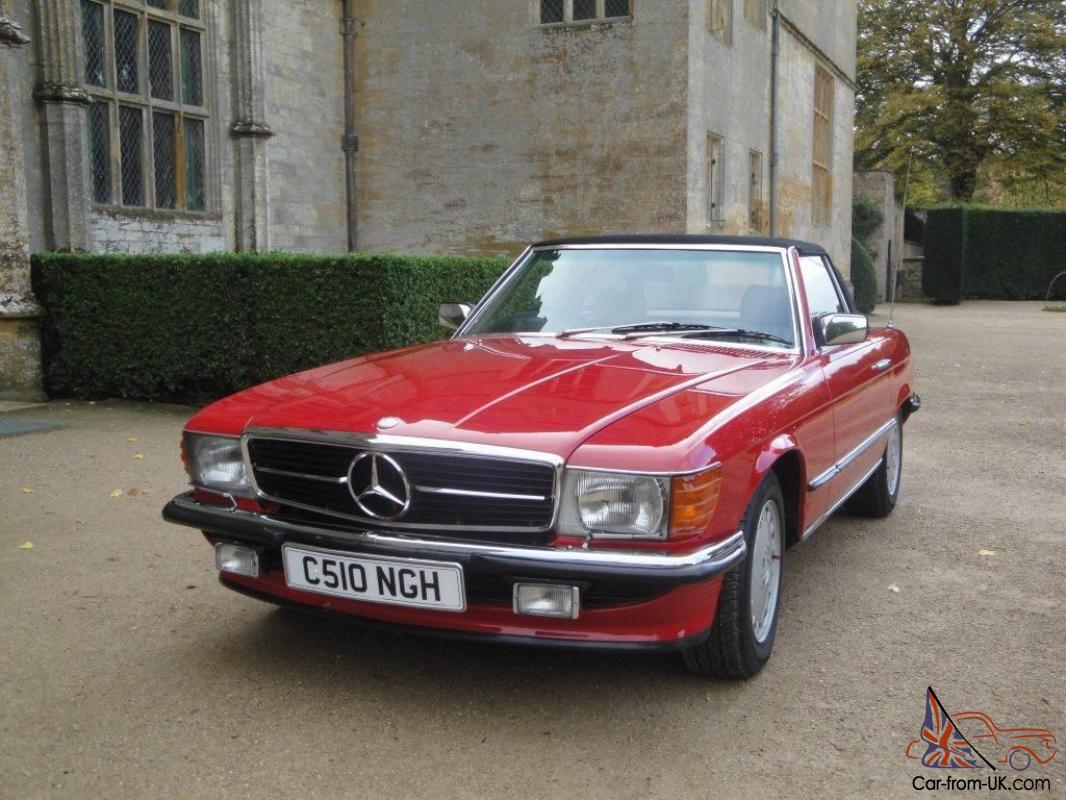 1985 classic mercedes 280sl red sports convertible for Vintage mercedes benz
