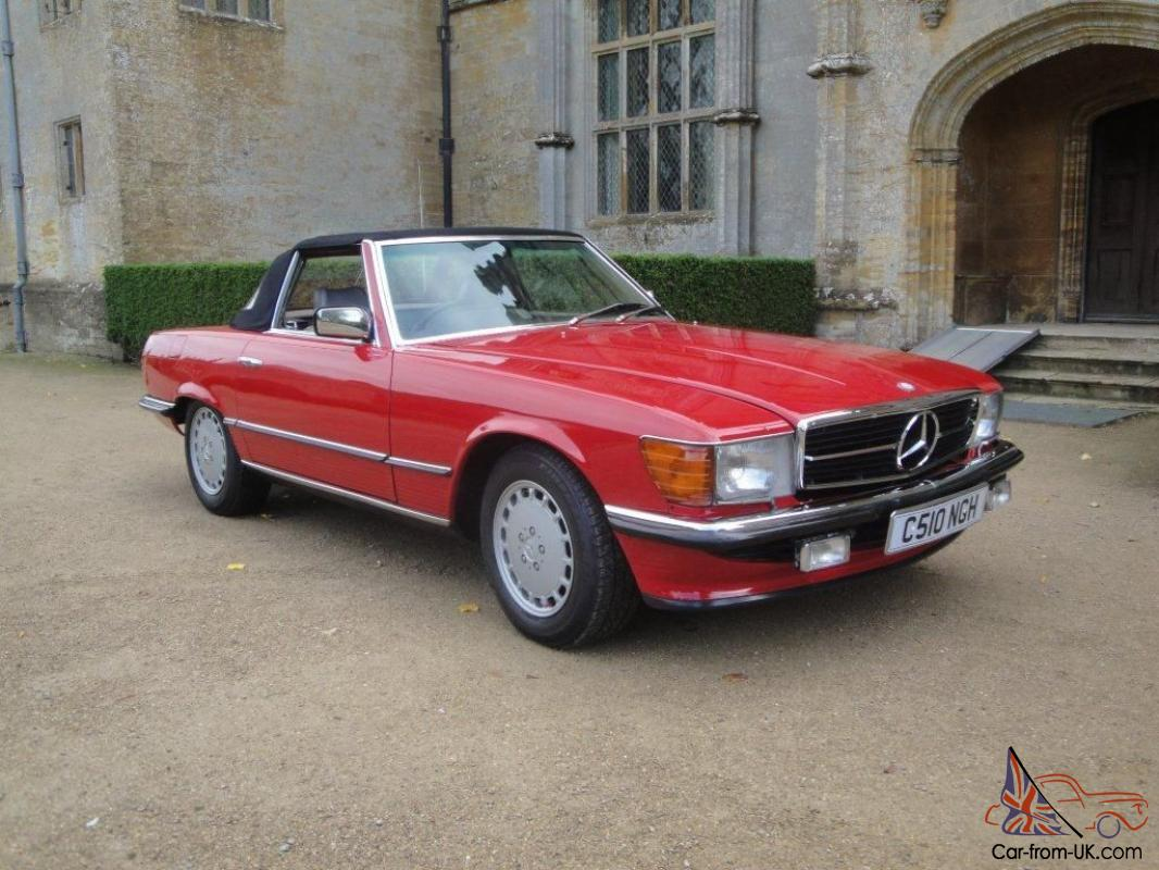 1985 Classic Mercedes 280sl Red Sports Convertible