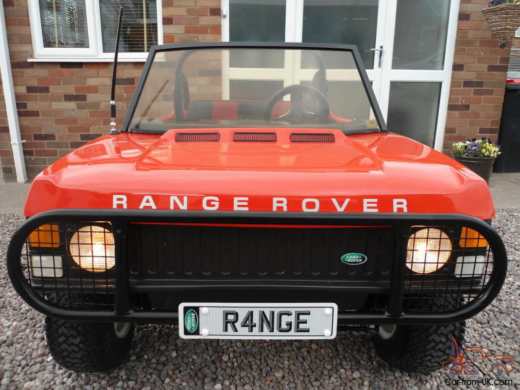 Childs Seater Petrol Range Rover Classic Kids Childrens Tot Rod Rare