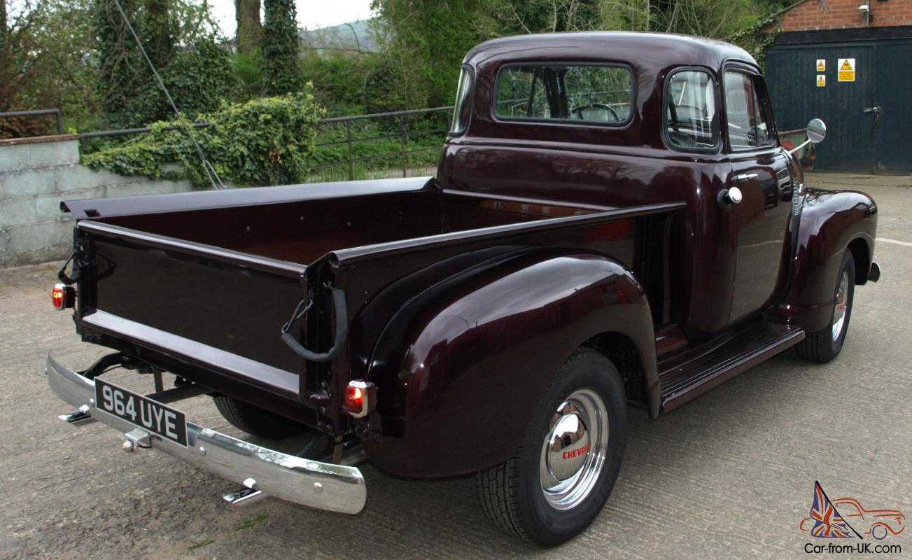 chevrolet chevy pickup pick up 1953 5 window american usa