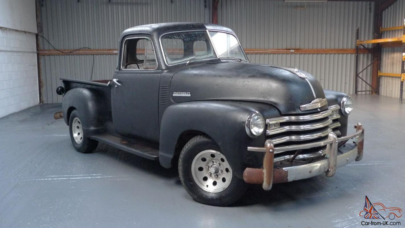 1952 chevrolet 3100 5 window 216 short bed pickup