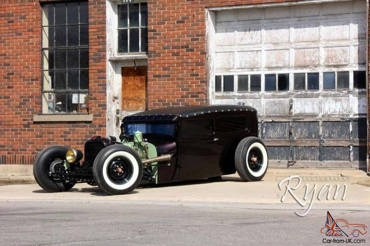 1929 Ford Hot Rod REAL Metal Sedan Tudor Chopped Channel Air Ride ...