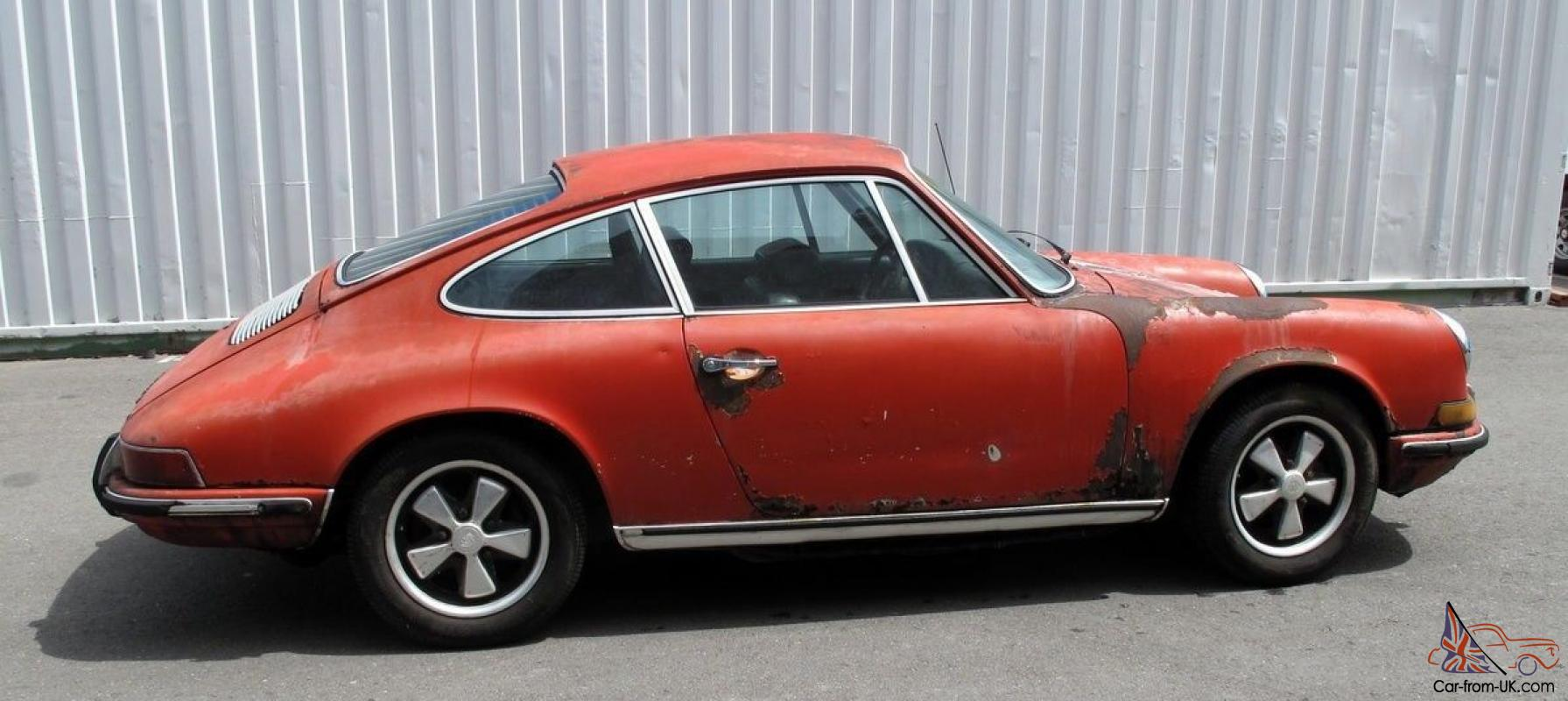 porsche 911 t 1971 coupe matching numbers excellent car to restore. Black Bedroom Furniture Sets. Home Design Ideas