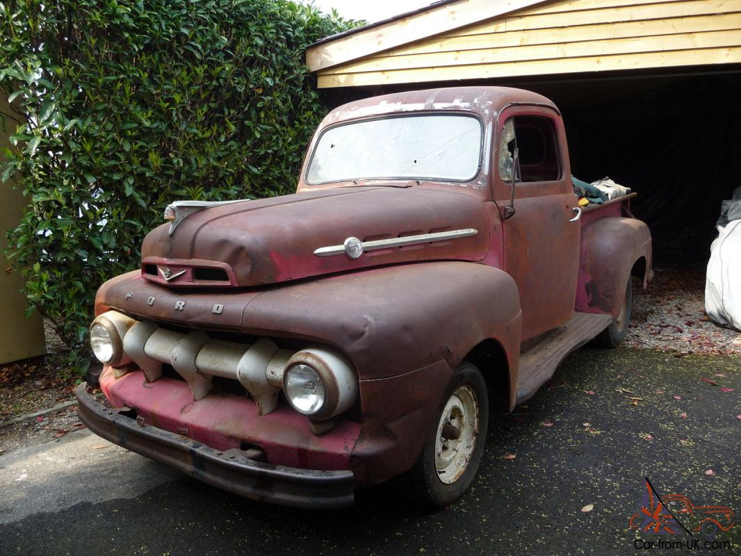 Ford f1 pickup truck 1952 shark tooth front the rare one uk registered