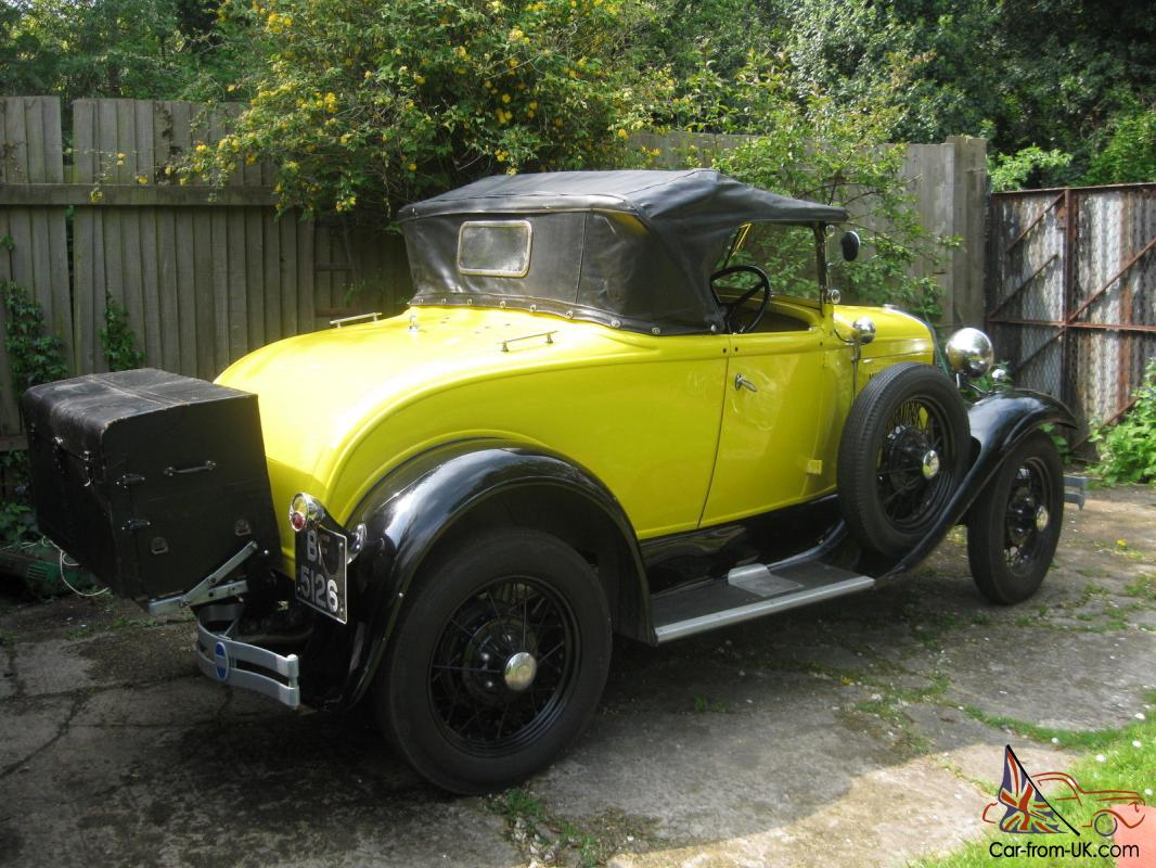 1930 ford model a deluxe roadster with twin side mounts for Model a motor mounts