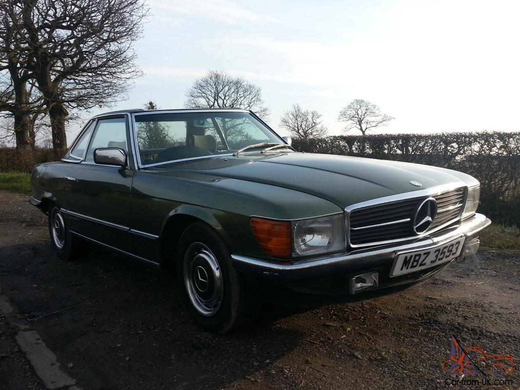 1980 mercedes 380 sl auto green. Black Bedroom Furniture Sets. Home Design Ideas
