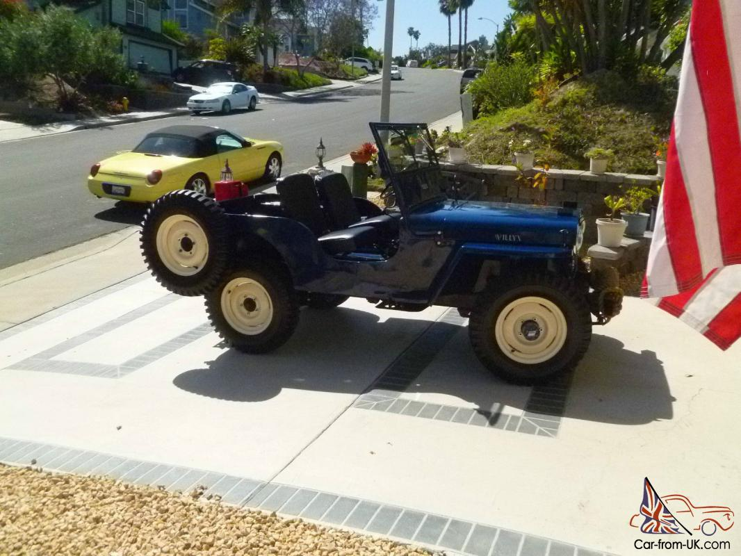 Tuttle Click Jeep >> 1947 Willys Jeep, blue CJ2A