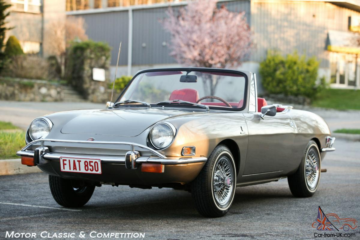 1971 Fiat 850 Spider, Restored and Charismatic, Wire Wheels and Luggage Rack