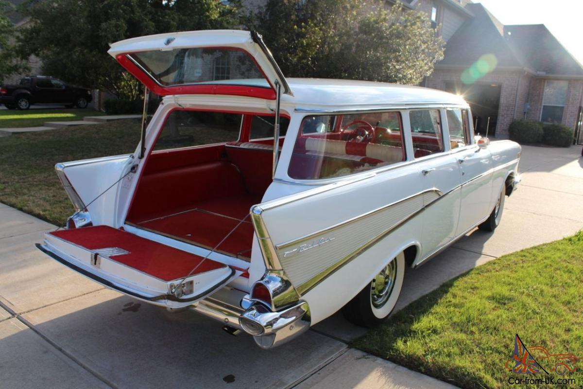 Chevy bel air 4 door frame up resto wagon with a c for 1957 chevy 4 door wagon for sale