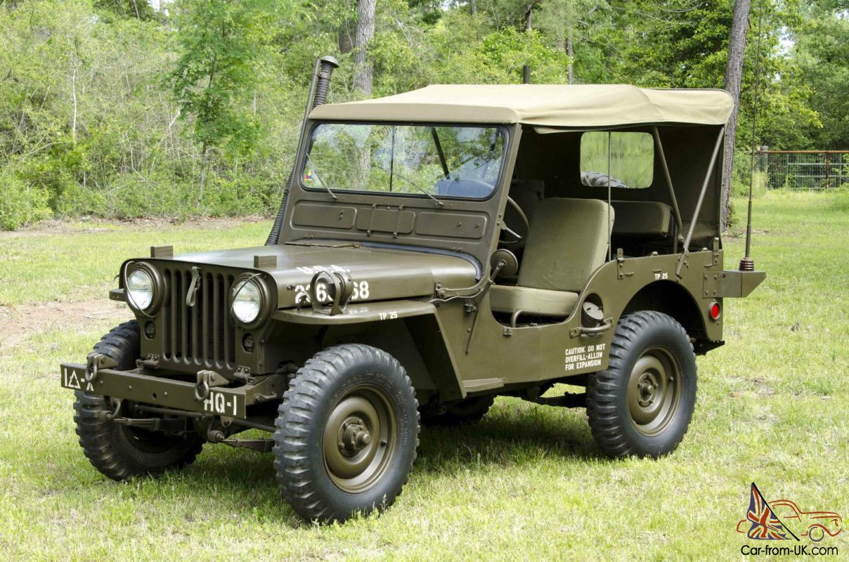 Willys Jeep For Sale Us >> Willys Jeep Military M38