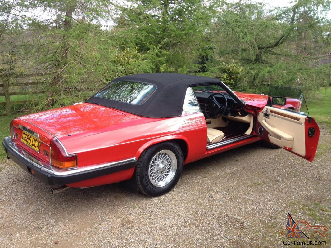 1989 jaguar xjs v12 convertible low mileage fsh. Black Bedroom Furniture Sets. Home Design Ideas