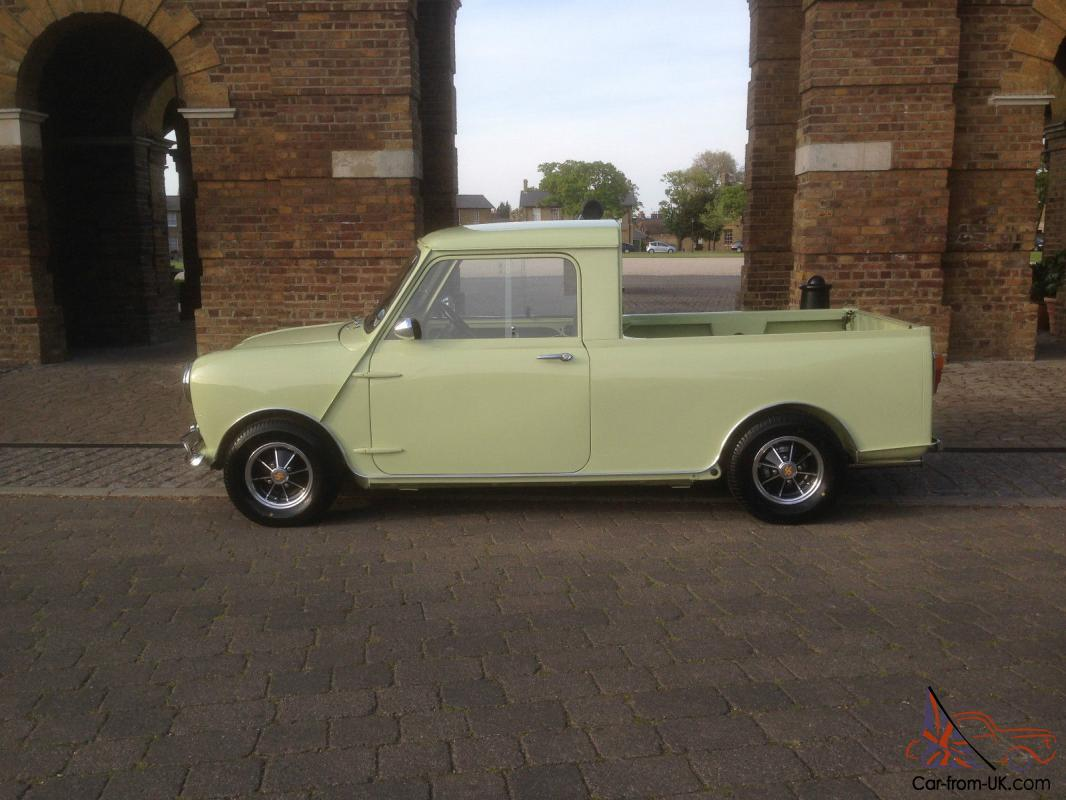 classic mini pickup just been fully restored tax exempt retro speedwell cooper. Black Bedroom Furniture Sets. Home Design Ideas