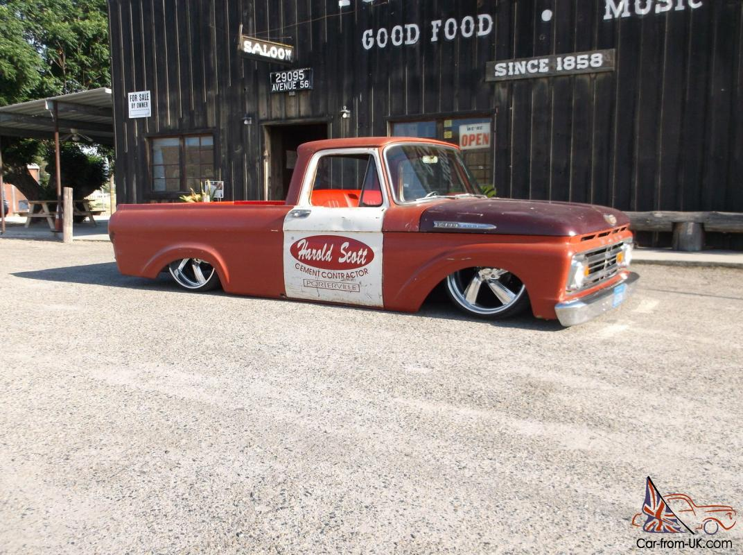 Patina F100 Unibody Billet Wheels 1964 Ford Short Bed
