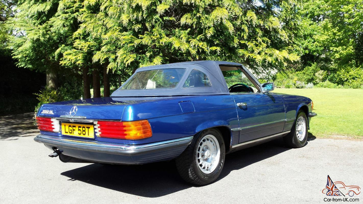 Mercedes benz 350 sl convertible v8 petrol classic car not for Mercedes benz 350 convertible