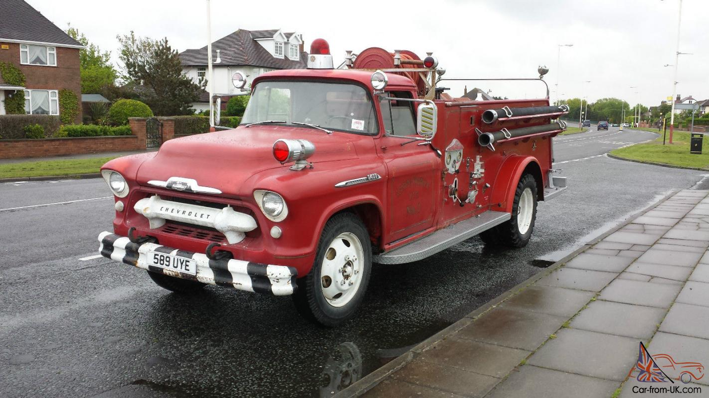 chevrolet chevy american fire truck pickup 1956 classis historic rare. Black Bedroom Furniture Sets. Home Design Ideas
