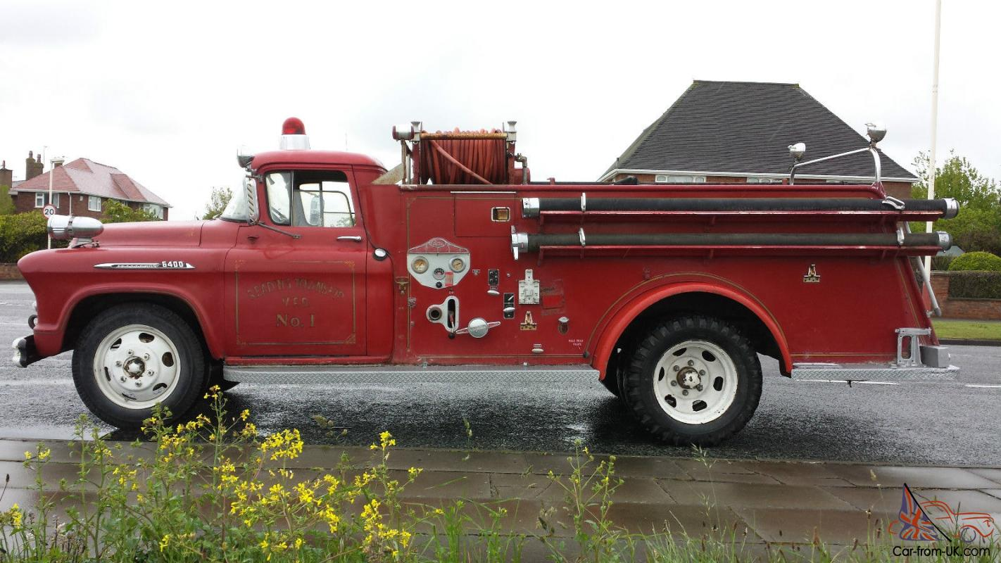 Chevrolet Chevy American Fire Truck Pickup 1956 Classis