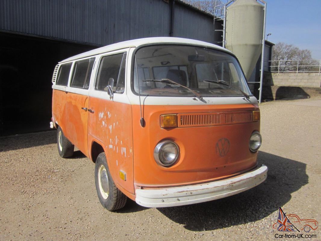 1973 vw type 2 bay window micro bus camper great project l k. Black Bedroom Furniture Sets. Home Design Ideas