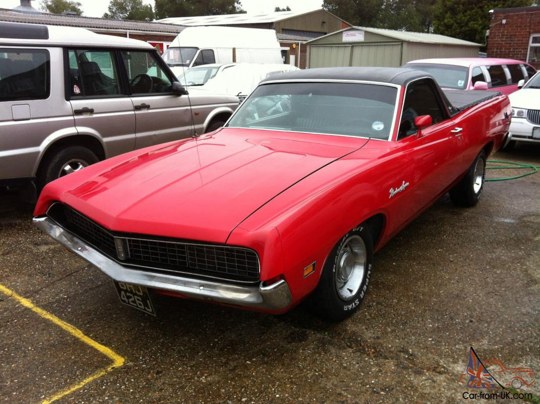 1971 ford ranchero gt squire mustang pick up red american classic