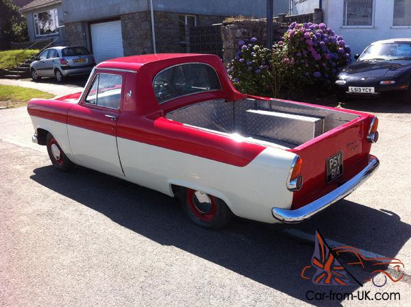 ford consul mk2 custom pickup at the riverview cafe