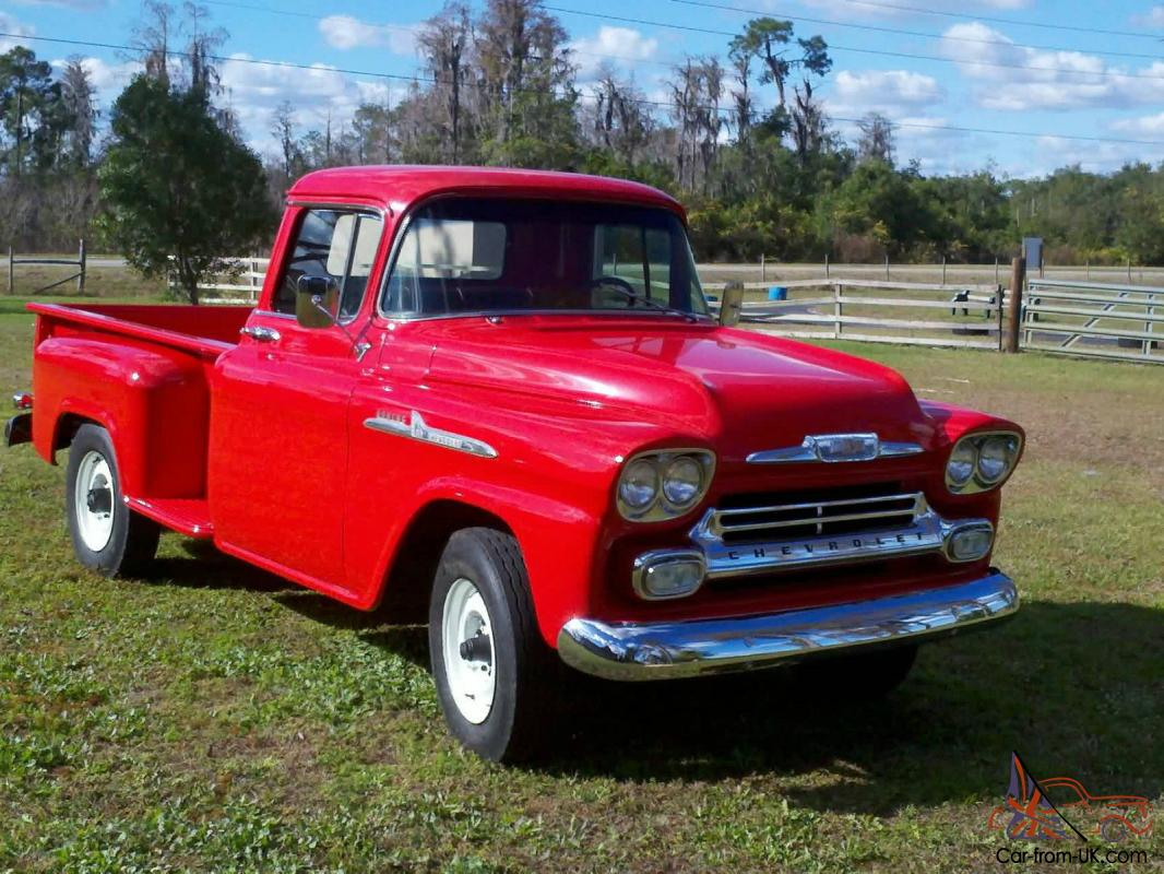 beautiful 1958 chevy 3600 pick up truck. Black Bedroom Furniture Sets. Home Design Ideas